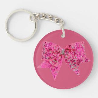 ピンクの弓keychain キーホルダー