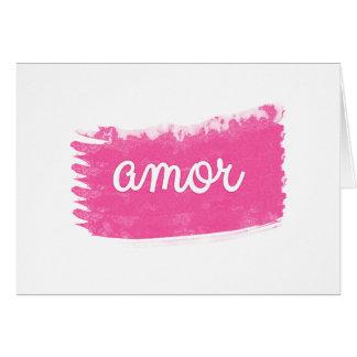ピンクの強打とのAmor カード