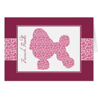 ピンクの影があるレースパターンの安定させたプードル、 カード