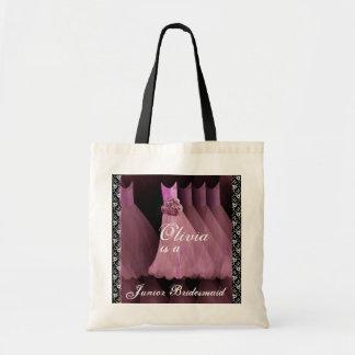 ピンクの後輩の新婦付添人の綿のトートバック トートバッグ