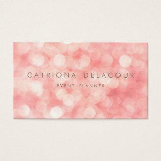 ピンクの微妙なグリッターの輝きの《写真》ぼけ味の名刺 名刺