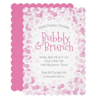 ピンクの快活なおよびブランチのパーティー カード