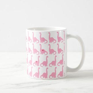 ピンクの恐竜のマグ コーヒーマグカップ