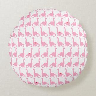 ピンクの恐竜の円形の枕 ラウンドクッション