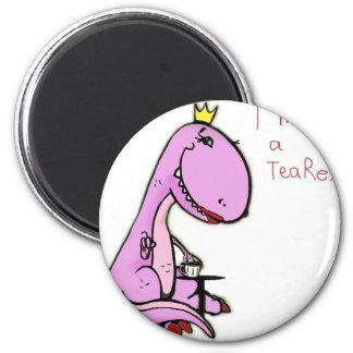 ピンクの恐竜TeaRexのおもしろいな写真 マグネット