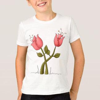 ピンクの情熱の花 Tシャツ