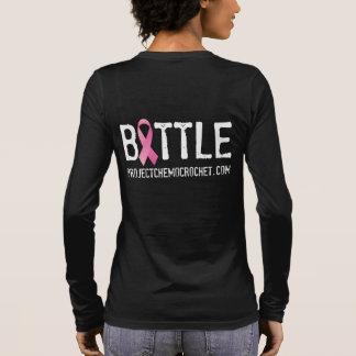 ピンクの戦士か戦いの長袖のティー 長袖Tシャツ
