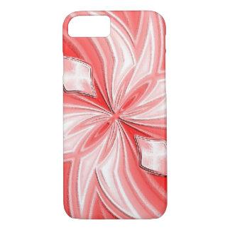 ピンクの抽象デザインのiPhoneの場合 iPhone 8/7ケース
