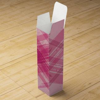 ピンクの抽象的なワイン用化粧箱 ワインギフトボックス