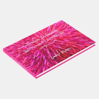 ピンクの抽象的な退職パーティーの記憶か来客名簿 ゲストブック