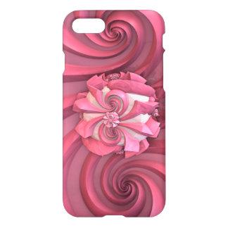 ピンクの抽象美術のデザイン iPhone 8/7 ケース