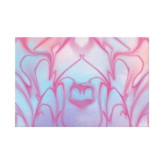 ピンクの抽象美術 キャンバスプリント