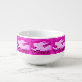 ピンクの指す人魚 スープマグ