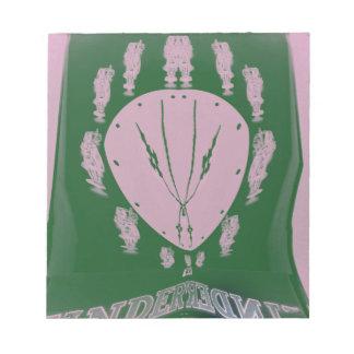 ピンクの旗 ノートパッド