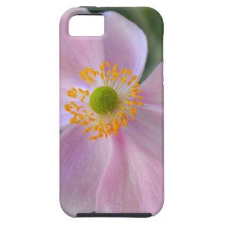 ピンクの日本のアネモネの花 iPhone SE/5/5s ケース