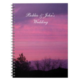 ピンクの日没のノート ノートブック