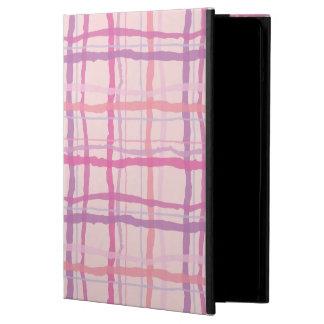 ピンクの日没のビーチの格子縞 iPad AIRケース