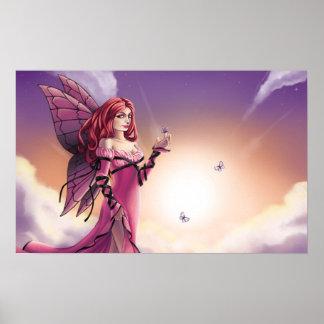 ピンクの日没 ポスター