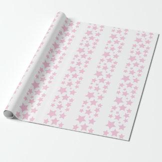 ピンクの星の包装紙 ラッピングペーパー