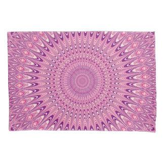 ピンクの星の曼荼羅 枕カバー