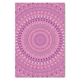 ピンクの星の曼荼羅 薄葉紙