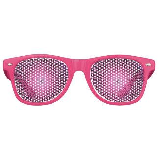 ピンクの星の破烈のフラクタルの曼荼羅ガラス レトロサングラス