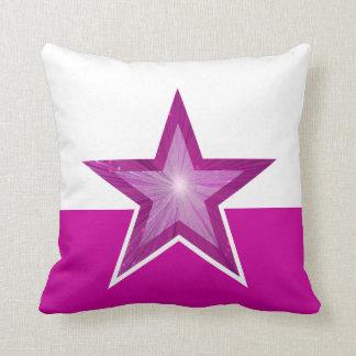 ピンクの星の装飾用クッションの正方形のピンクの白 クッション