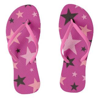 ピンクの星パターン ビーチサンダル