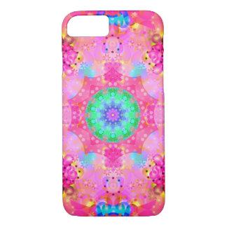 ピンクの星及び泡フラクタルパターン iPhone 8/7ケース