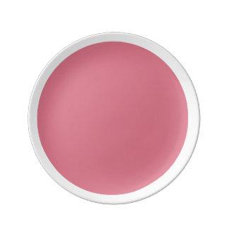 ピンクの星形五角形のピンクのnの白いアクセントのプレート 磁器プレート