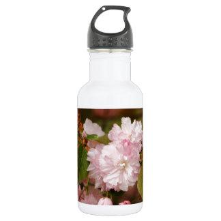 ピンクの春の咲く日本人のKwanzanのさくらんぼ ウォーターボトル
