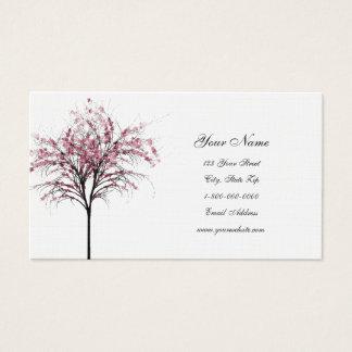 ピンクの春の木の名刺 名刺