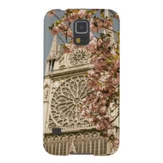 ピンクの春の花のノートルダム大聖堂 GALAXY S5 ケース