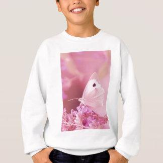 ピンクの春を恋しく思っている蝶動物 スウェットシャツ