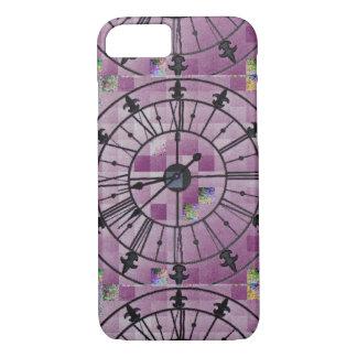 ピンクの時計のデザイン iPhone 8/7ケース