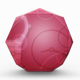 ピンクの時計 表彰盾