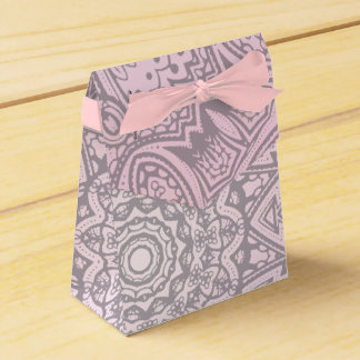 ピンクの曼荼羅の芸術の宇宙結婚式の引き出物箱 フェイバーボックス
