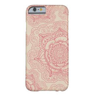 ピンクの曼荼羅パターン BARELY THERE iPhone 6 ケース
