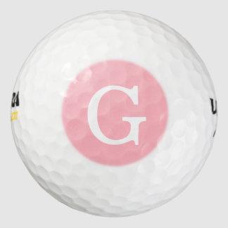 ピンクの最初のモノグラム ゴルフボール