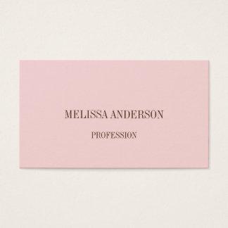 ピンクの最小主義の専門の名刺 名刺