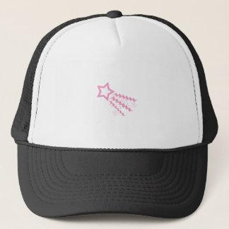 ピンクの最小主義の流星のグラフィック キャップ