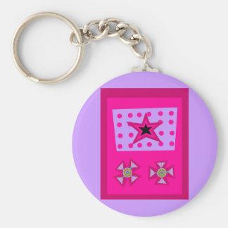 ピンクの月桂樹の星 キーホルダー