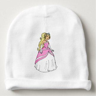 ピンクの服のアートワークの写真の美しいプリンセス ベビービーニー