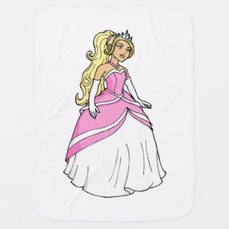 ピンクの服のアートワークの写真の美しいプリンセス ベビー ブランケット