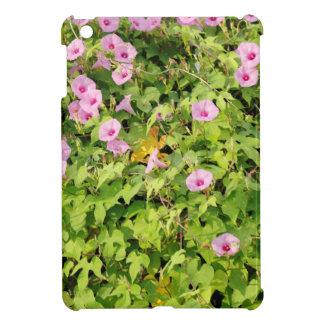 ピンクの朝顔ブッシュ iPad MINIケース