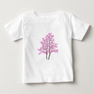 ピンクの木、乳癌サポート ベビーTシャツ
