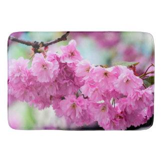 ピンクの桜のさくらんぼ バスマット