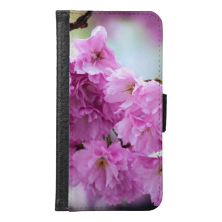 ピンクの桜のさくらんぼ GALAXY S6 ウォレットケース