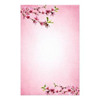 ピンクの桜のヴィンテージのピンク 便箋
