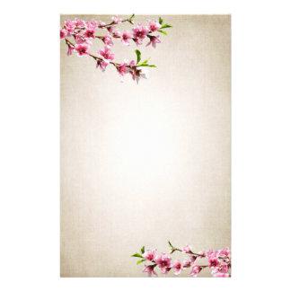 ピンクの桜のヴィンテージタン 便箋